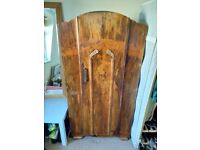 UNIQUE - Antique wooden wardrobe with lots of internal shelving - £60 - 150x44x84cm