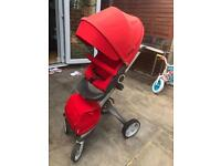 Stokke xplory red in good condition