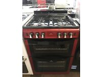 60CM RED NEWWORLD GAS COOKER