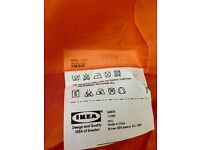 11 panels of orange sheer Ikea 'Sarita' curtains