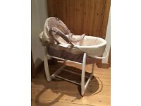 Mamas and Papas Liberty Moses basket with stand perfect condition only used a few times