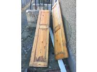 2 wooden French doors- free