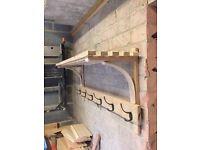 Bespoke coat racks oak or softwood