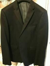Mens black slim fit suit