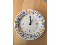Ceramic plate wall clock