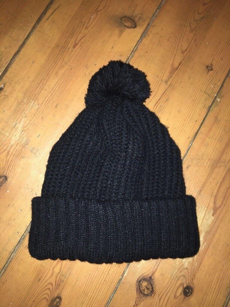 Brand new topshop black wooley pom pom hat  138a0f75181