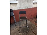 Three breakfast bar stools- Excellent condition