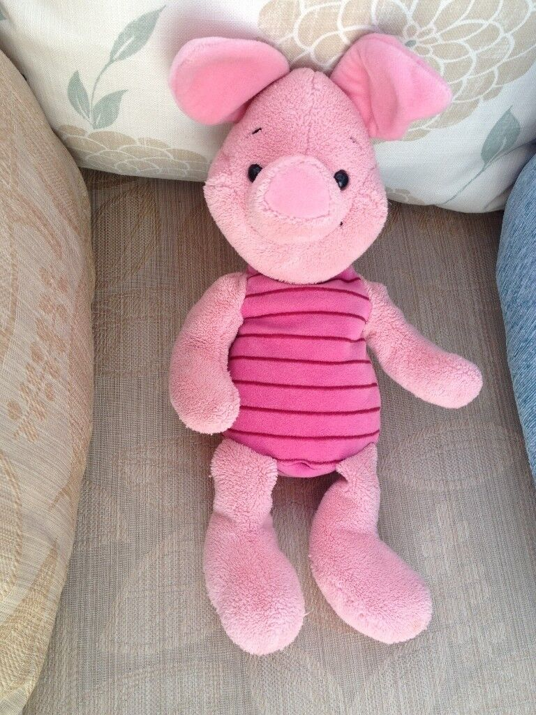 Piglet from Winnie the Pooh, soft toy, partially bean filled.