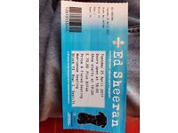 Ed sheeran ticket 25th april nottingham
