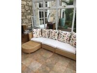 Whicker sofa/chairs/chaise lounge