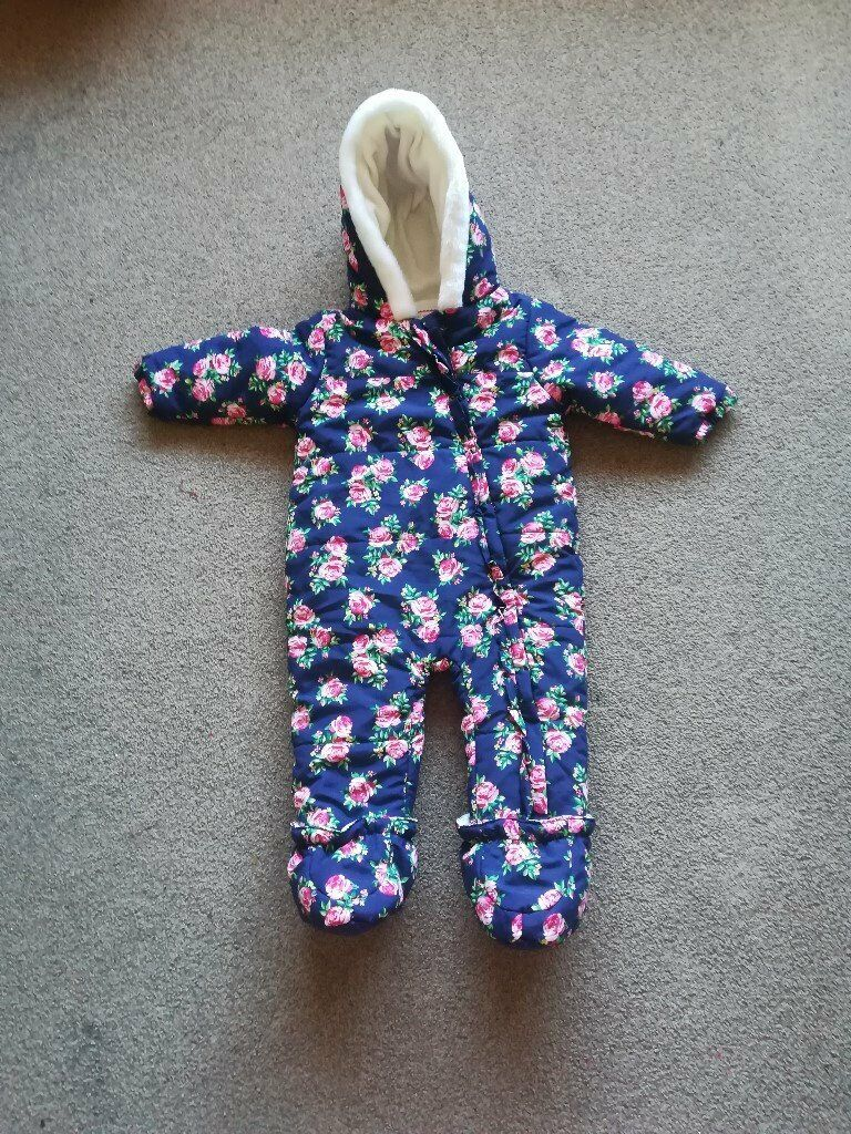 336e0c79d Girls snow suit all in one 9-12 months | in Poole, Dorset | Gumtree