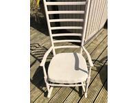 White painted retro rocking chair