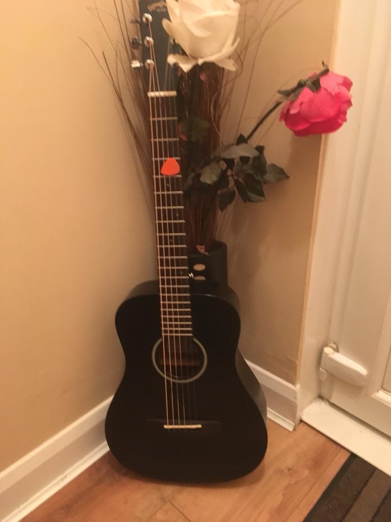 SIGMA TM-12E Black Acoustic/Electric Travel Guitar