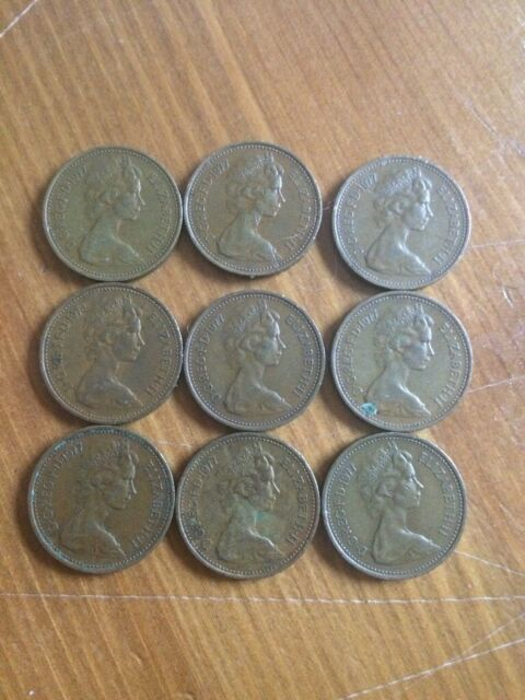 Rare 1p NEW PENNY 1977 coin X 9 coins | in Aberdeen | Gumtree