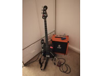 Squier Deluxe Active Jazz Bass + Amp + Multistomp Bass Effect