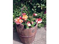 Two Vintage Wooden Buckets