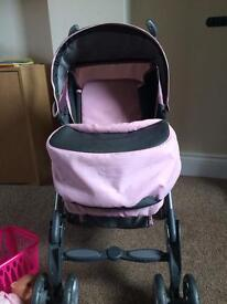 Sliver cross pushchair