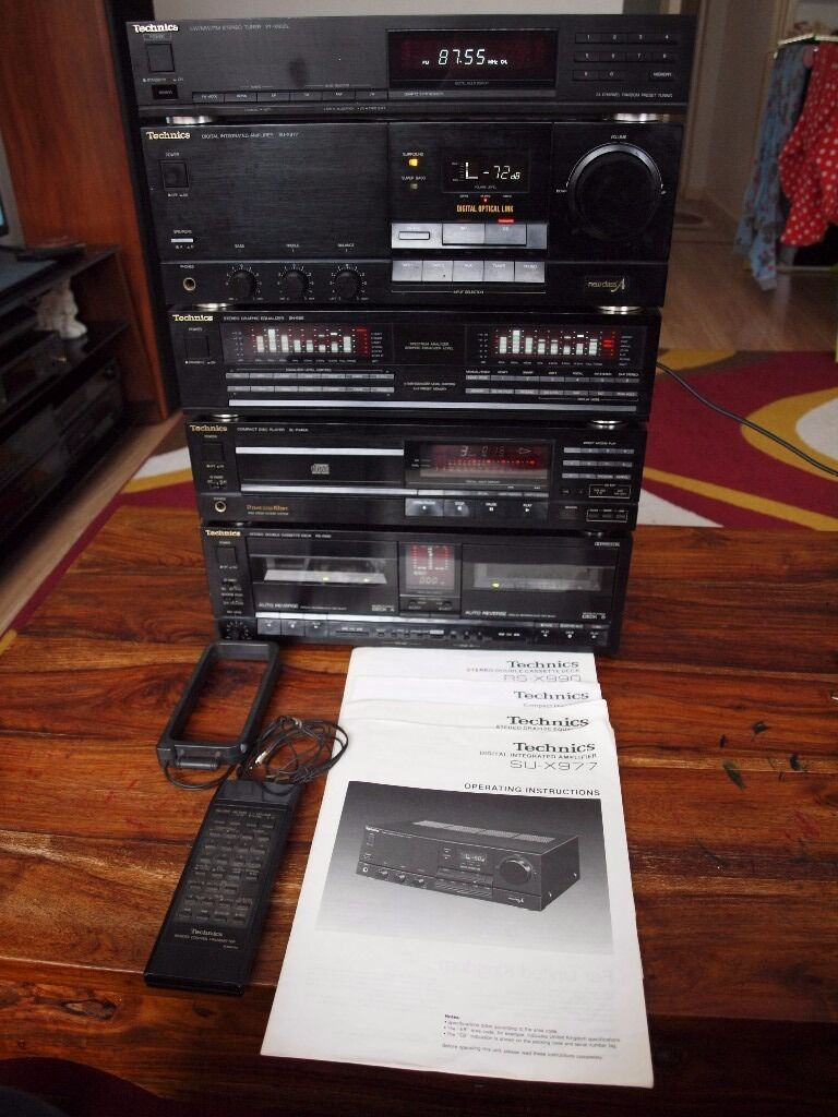 Technics Stereo Amp Tuner Equaliser Cd Player