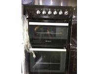 BLACK HOTPOINT 50cm NEW MODEL ELECTRIC COOKER