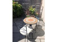 Ceramic tile Bistro table & 2 chairs