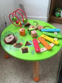 Tesco wooden musical activity table (sold)