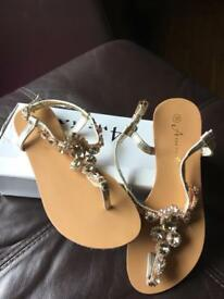 Jewelled Sandals (Never Worn) - Size 3