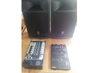 Yamaha Stage PA 300 including speaker stands and adaptors for bands / practices / events