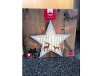 Light up wooden star Christmas