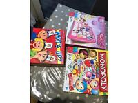 Monopoly party, Disney princess Guess who and What's up games
