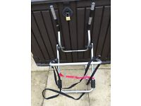 2 Bike cycle carrier for 4 x 4 car. Attaches to spare wheel.
