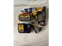 Dewalt 18v Li-ion Brushless Hammer Combi Drill, 9Ah Battery & Charger