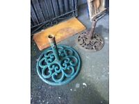 Extra Large Cast Iron Parasol Base - W-R