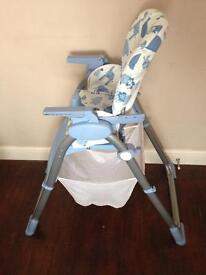 Child's buggy and high chair