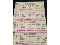 Celtic the musical Glasgow 4x tickets