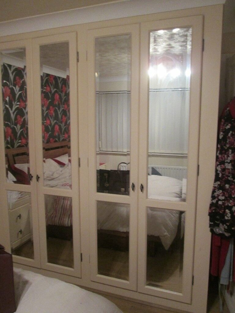 Complete Fitted Bedroom Furniture-Mirrored Wardrobes/long