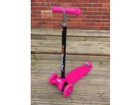 Pink flashing scooter