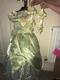 Disneyland Princess dresses with accessories