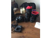 Canon eos 1300d camera with 2 lenses