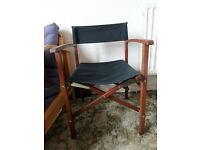 Ikea black canvas director's chair - patio, garden or indoor