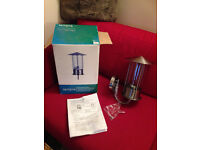 B and Q Outdoor Stainless Steel Wall light. Brand new in box .Was £29.99