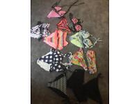 7 bikini's and 3 bikini bottoms
