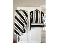 Zara co ord black and white size small