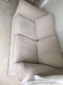 Next sofa bed Capri light oatmeal fabric