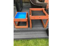 Plum wooden kids sand and water table summer fun