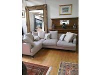 Corner Sofa, taupe/grey colour, very good condition
