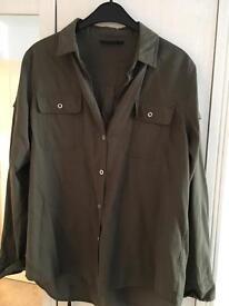 Khaki topshop military shirt 10 SOLD
