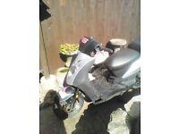 2006 kymco agility 4 stroke 50cc moped starts on key tatty but usable