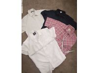 """4 mens short sleeved shirts - 38""""- 40""""chest good condition = price is for each"""
