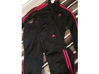 Girls Adidas tracksuit