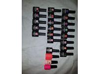 Mixture of gel nail polishs